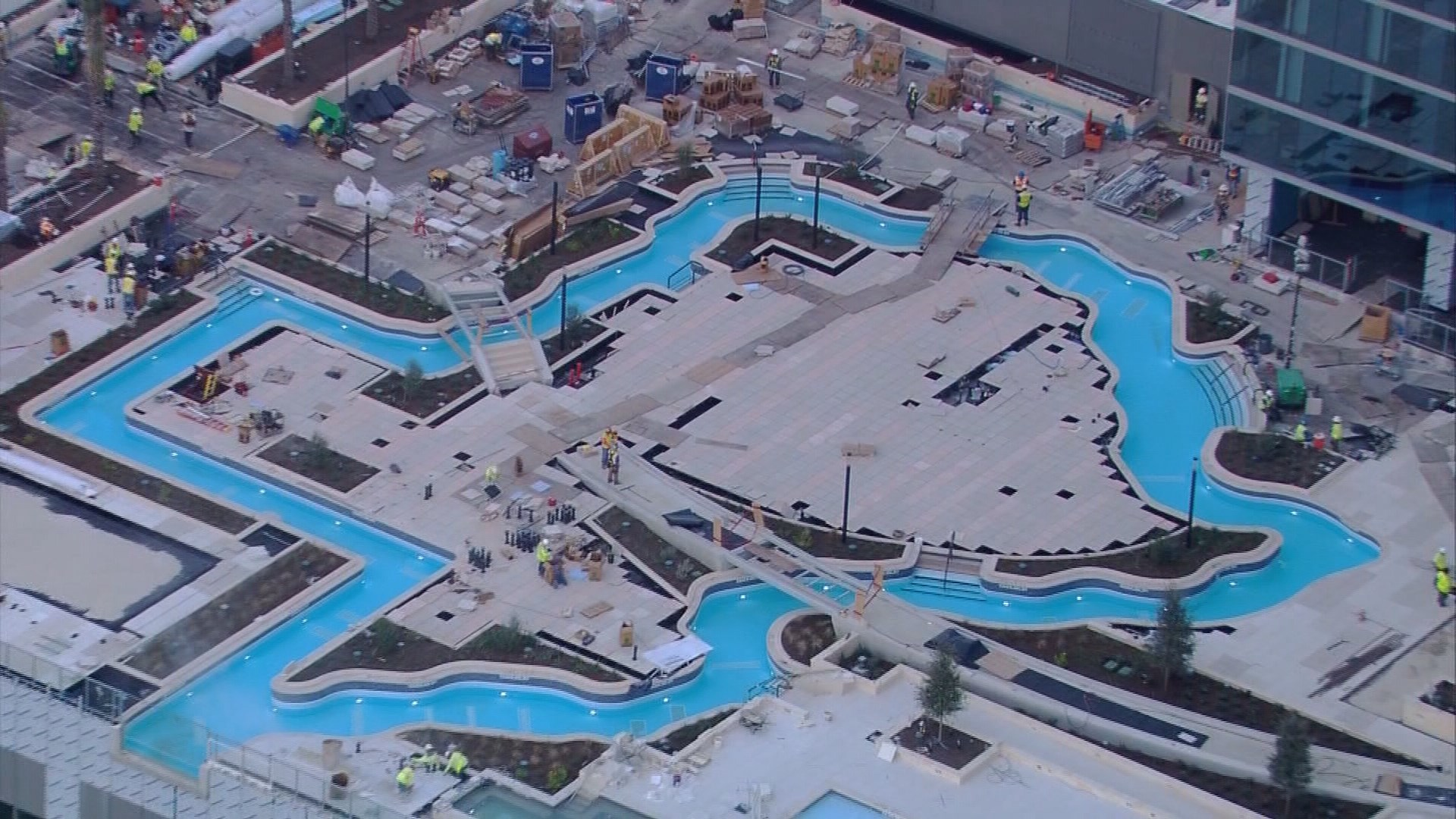 Photos Texas Shaped Lazy River In Downtown Houston
