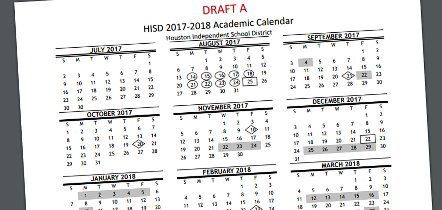 Next Year Calendar : Parents can vote on next year s hisd school calendar