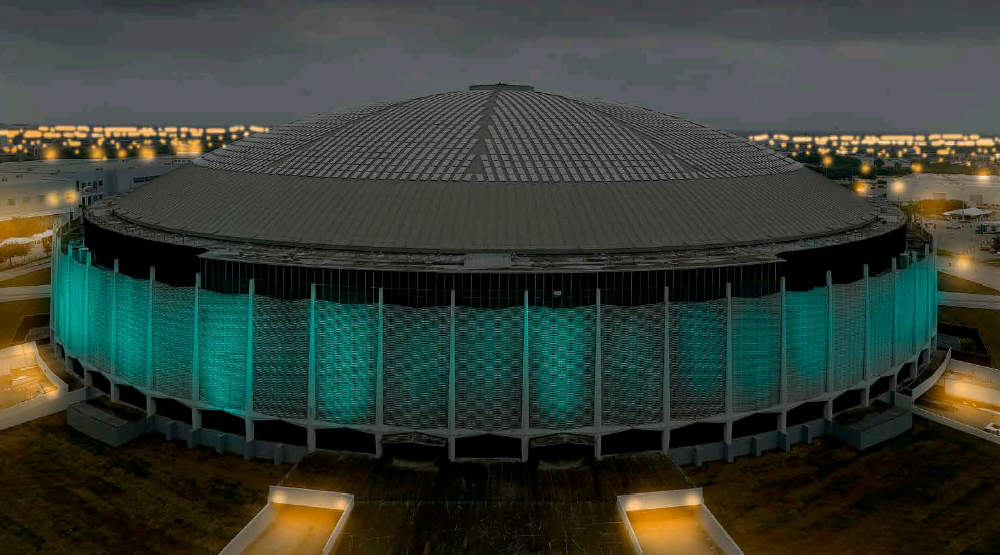 heres how the astrodome will look for the super bowl