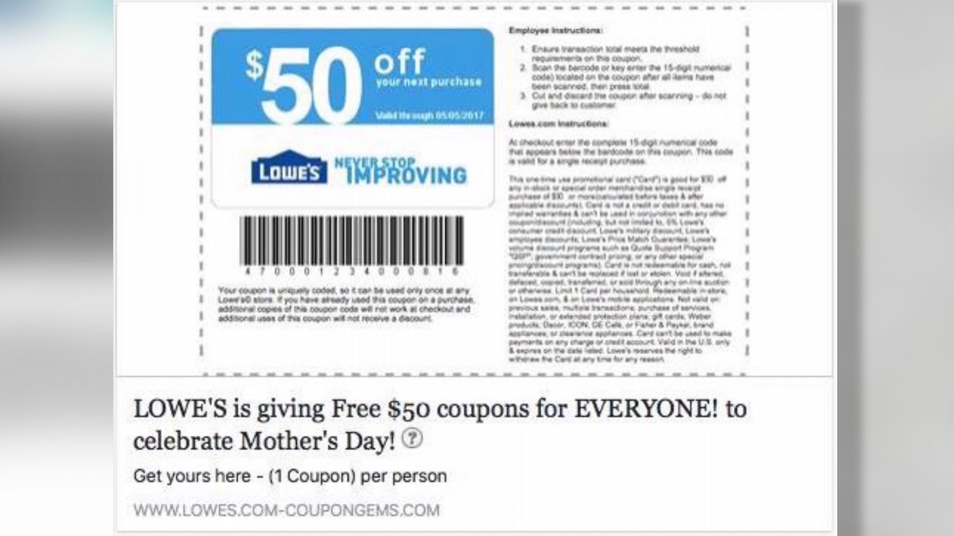 It is a picture of Smart Lowes 20% Printable Coupon Free