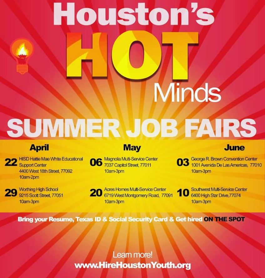 teen jobs in houston