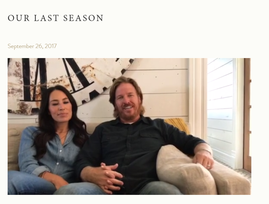 39 fixer upper 39 shocker season 5 will be the last. Black Bedroom Furniture Sets. Home Design Ideas