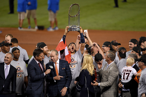 Photos: Astros team celebrates World Series win at Dodger Stadium!