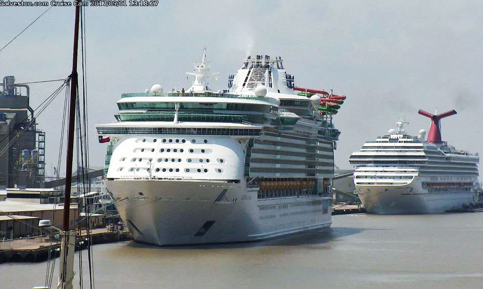 Cruise ships return to Galveston for the first time since ...